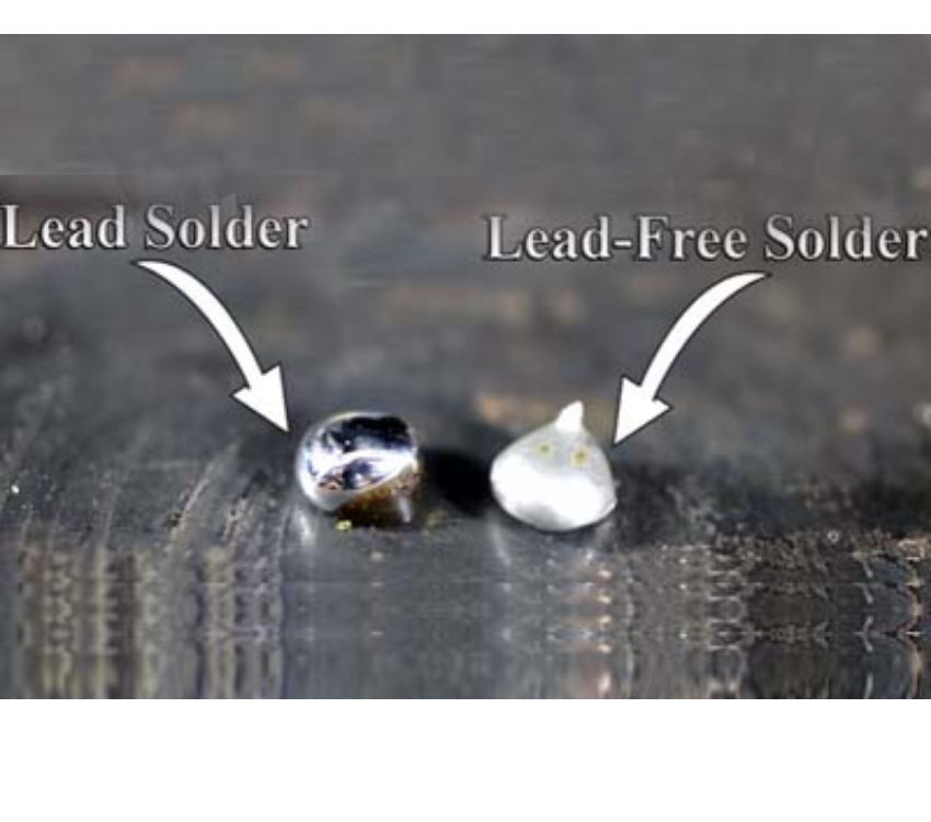 What is lead-free solder made of